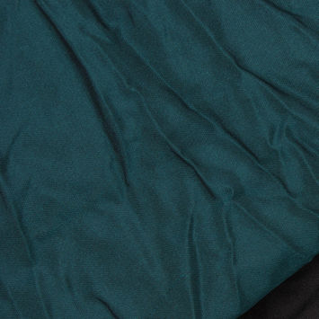Teal and Black Double-Faced Polyester Woven