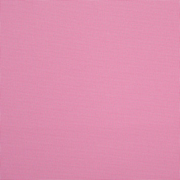 Rose and White Mini Houndstooth Stretch Poly