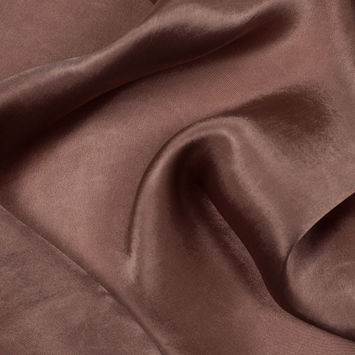 Bison Brown Colored Polyester Charmeuse
