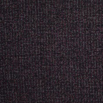Oscar de la Renta Deep Purple and Black Checked Wool Boucle