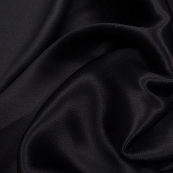 Ralph Lauren Black Silk Crepe Back Satin