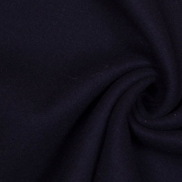 Midnight Blue Double Cloth Wool