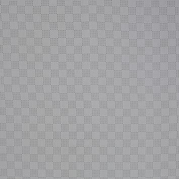White Perforated Italian Silk Crepe de Chine