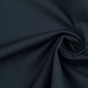 Deep Atlantic Solid Stretch Cotton-Nylon Suiting