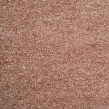Heathered Dark Earth Brown Felted Wool Blend