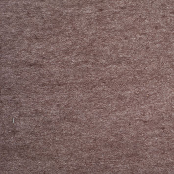Heathered Brown Felted Wool Blend