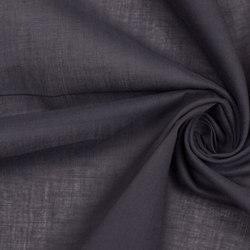 Charcoal Solid Cotton Lawn