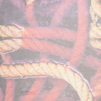 Parachute Purple/Sangria Rope Printed Silk Crinkled Chiffon