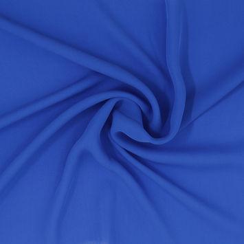 Cobalt Blue Silk Georgette