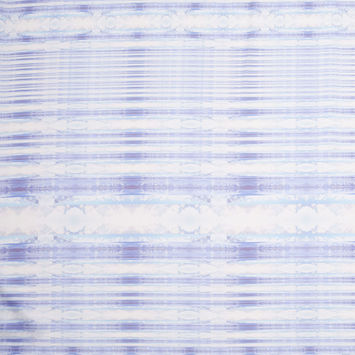 Purple/Blue Organic Stripes Digitally Printed Polyester Charmeuse