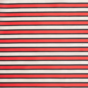 Tanya Taylor Red Striped Polyester-Cotton Organza/Organdy