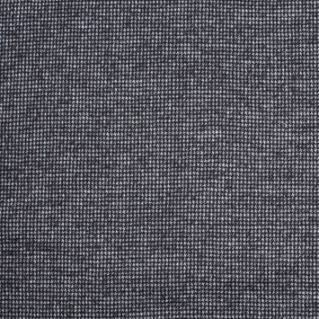 Gray/Black Houndstooth Blended Wool Knit