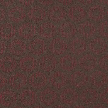 Dark Green and Red Geometric Wool Fleece