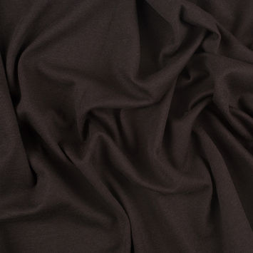 Dark Brown and Coral Double Cloth Stretch Jersey
