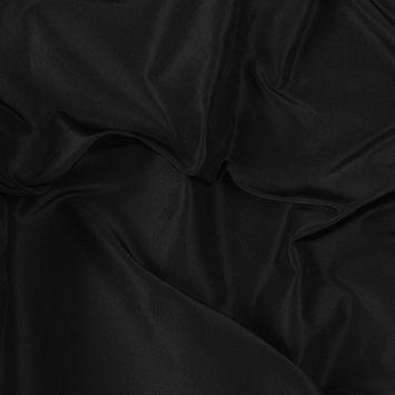 Premier Black Heavy 100% Silk Taffeta