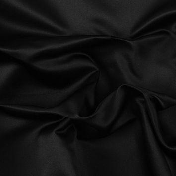 Premier Black 100% Silk Double Face Duchesse Satin