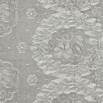 Anna Sui Black and Ecru Floral Scallop-Edged Lace
