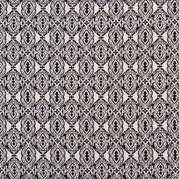 Black/Off-White Geometric Diamonds Cotton Jacquard