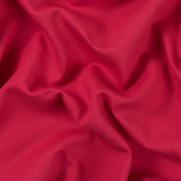 Raspberry Double Faced Cotton Serge Twill