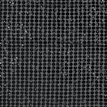 Black Silk Burnout with Velvet Circles and Metallic Silver Foil