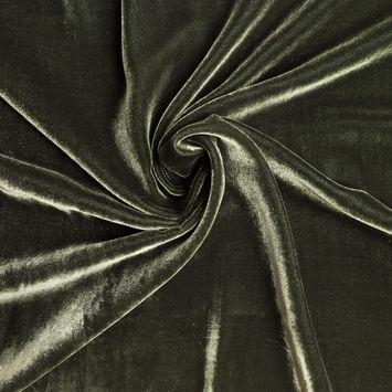Olive Soft Rayon-Silk Velvet