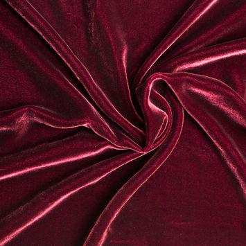 Sultan Red Soft Rayon-Silk Velvet