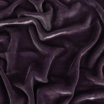Gunmetal Soft Rayon-Silk Velvet