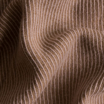 Pink/Apple Cinnamon Double-Faced Cotton-Wool Twill