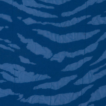Victoria Blue Polyester Zebra Burnout