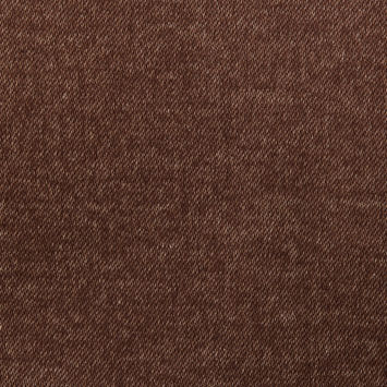 Coca Brown/Wheat Double-Faced Wool-Cotton Twill