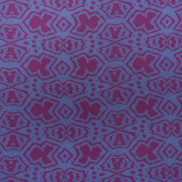 Purple/Blue Abstract Printed Polyester Woven