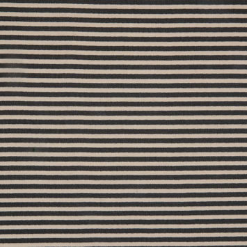 Black/Pumice Stone Candy Striped Printed Polyester Chiffon
