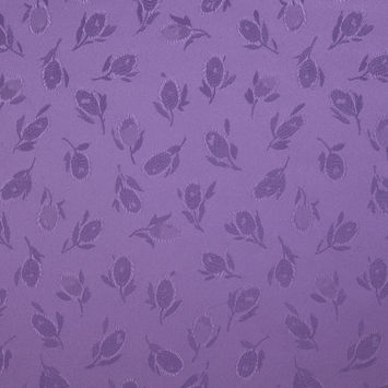Purple Heart Floral Woven Polyester Lining