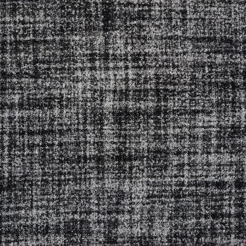Black/White Stiff Boucled Wool Double Cloth