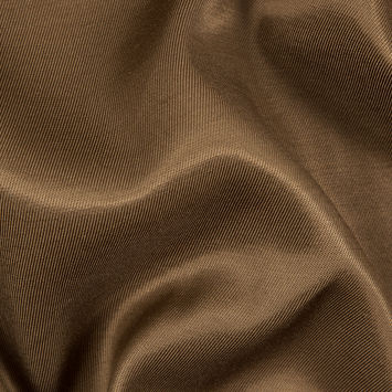 Brown Luminous Cotton/Rayon Twill Suiting