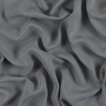 Silver Solid Viscose Batiste