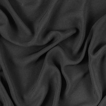 Black Solid Viscose Batiste