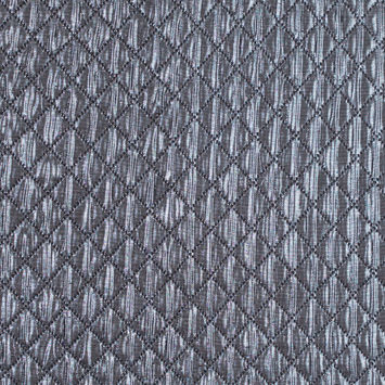Metallic Silver and Black Quilted Brocade