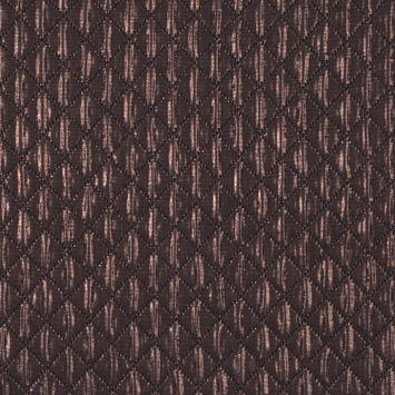 Metallic Copper and Black Quilted Brocade