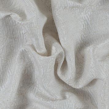 Metallic Blanc de Blanc/Seedpearl Abstract Cotton Polyester Brocade