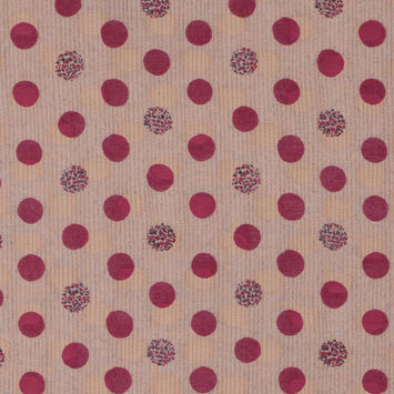 Tocca Polka-dotted and Flocked Silk/Cotton Voile
