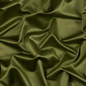 Italian Dark Citron Stretch Polyester Charmeuse