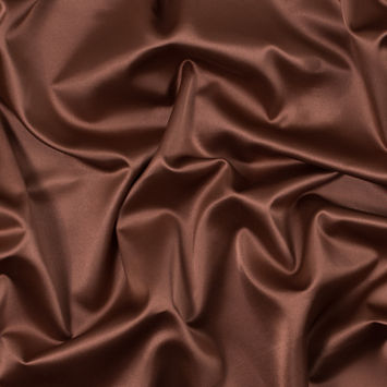 Italian Tortoise Shell Brown Stretch Polyester Charmeuse