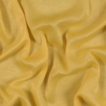 Italian Primrose Yellow Dyed Washed Polyester Dobby