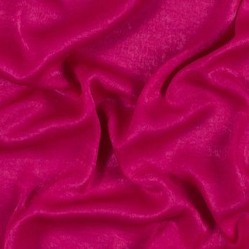 Italian Fuchsia Purple Dyed Washed Polyester Dobby