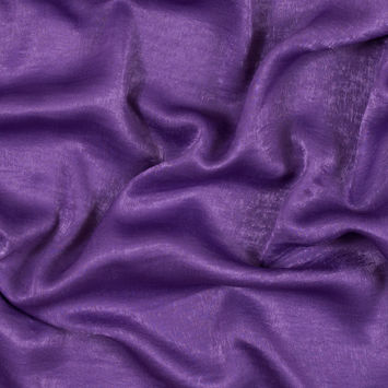 Italian Meadow Violet Dyed Washed Polyester Dobby