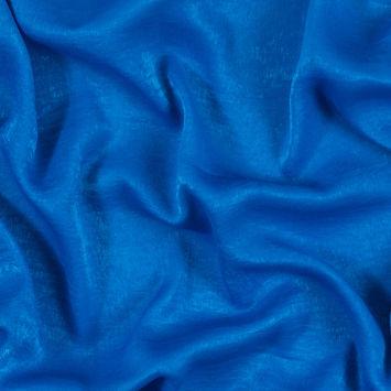 Italian Brilliant Blue Dyed Washed Polyester Dobby