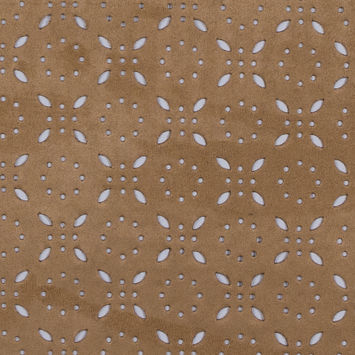 Italian Beige Perforated Faux Suede