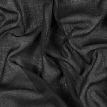 Black Tissue-Weight Wool Woven