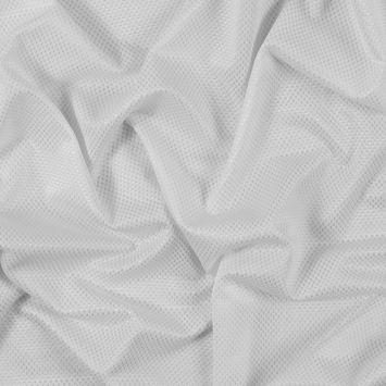Luminous White Stretch Knit Piqued Jacquard